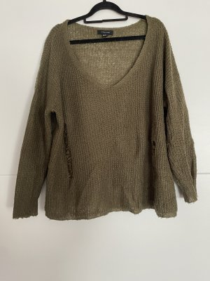 ATMOSPHÄRE Sweter z dzianiny khaki