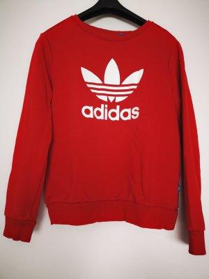 Adidas Kraagloze sweater wit-rood