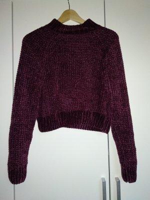 H&M Pull en laine rouge mûre-violet