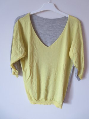Mrs & HUGS Cashmere Jumper yellow-light grey cashmere
