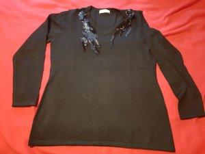 Pullover feinstrick  schwarz  langarm