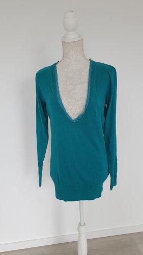 Pullover Feinstrick türisgrün