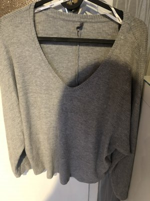 Be only Cropped Jumper light grey