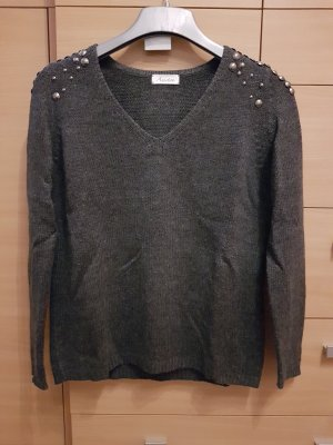 Aniston V-Neck Sweater anthracite