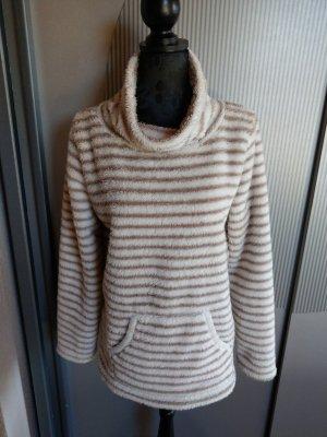Gina Benotti Polarowy sweter kremowy-brązowy