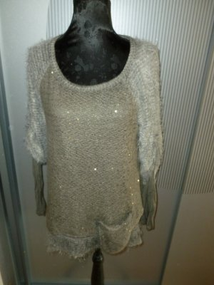 Pullover flauschig grau Made in Italy