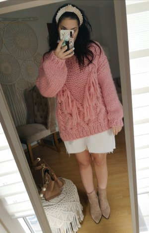 Pullover Fransen blogger hipster boho Volants Rüschen
