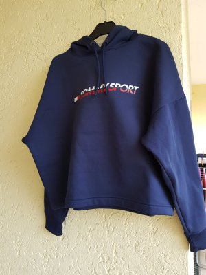 Pullover funktionsshirt sport von tommy hilfiger in marineblau