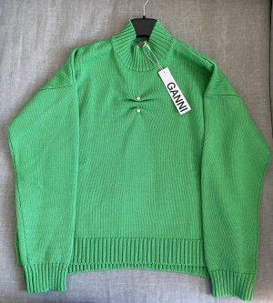Ganni Maglione lavorato a maglia verde