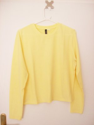 H&M Divided Crewneck Sweater pale yellow