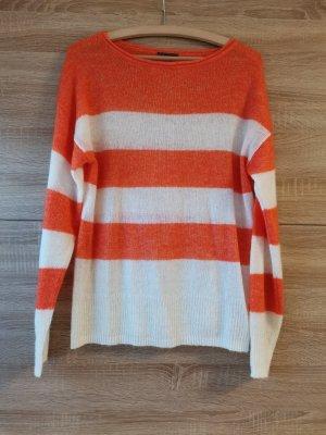 C&A Oversized Sweater white-orange