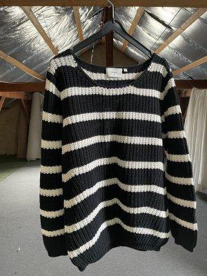 C&A Basics Oversized Sweater dark blue-white
