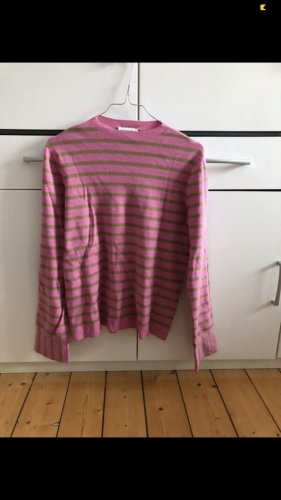 Pullover gestreift pink/kaki