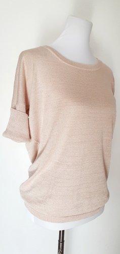 Pullover gold Pulli beige Langarm Shirt 42 NEU