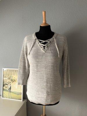 Tchibo / TCM Maglione a maniche corte grigio chiaro-grigio