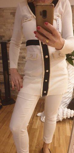 Lange jumper wit
