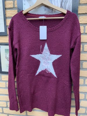 bpc bonprix collection Sweter z dzianiny bordo
