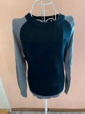 AJC Maglione lavorato a maglia nero-grigio