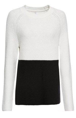 Pullover Gr 36/38 Schwarz Weiß