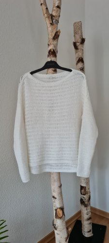 Opus Coarse Knitted Sweater white