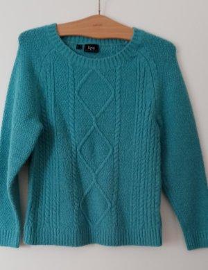 bpc bonprix collection Sweter z dzianiny turkusowy Poliakryl
