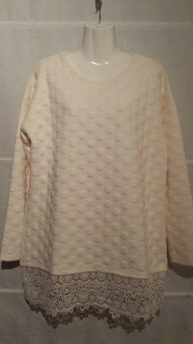 SheIn Crewneck Sweater natural white