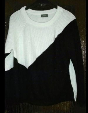 C&A Yessica Pull en laine blanc-noir