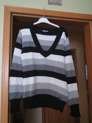 Pullover, Gr.M, gestreift, V-Ausschnitt