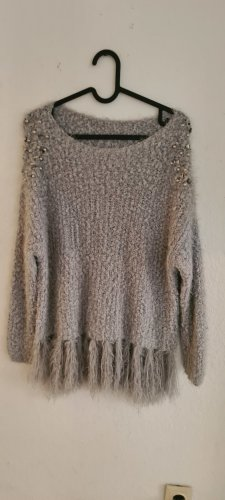 Crochet Sweater grey