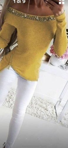 Maglione norvegese giallo