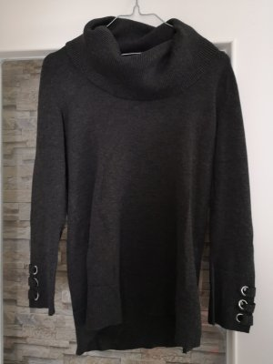 Cable & Gauche Turtleneck Sweater anthracite