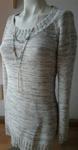 Manguun Maglione lungo bianco-argento Tessuto misto