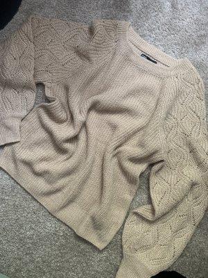 Takko Pullover a maglia grossa color carne-crema