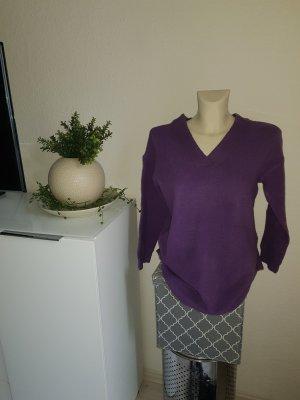 Bodyflirt Sweter z dekoltem w kształcie litery V fiolet