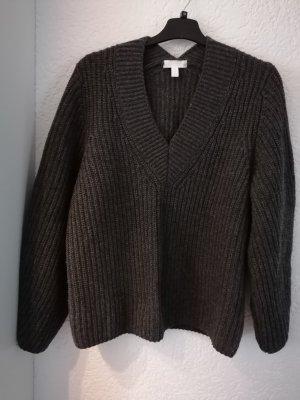 H&M Jersey de punto grueso gris oscuro