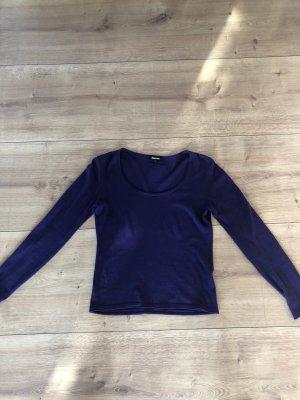 ESISTO Short Sleeve Sweater dark violet