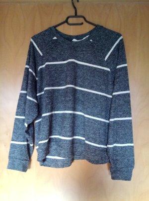 Pullover grau gestreift H&M