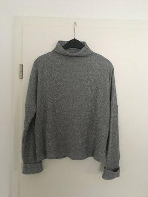 Primark Fine Knit Jumper silver-colored polyester