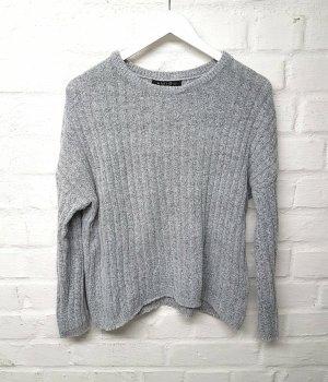 Pullover Grau Hellgrau Oversize Amisu Gr. XS