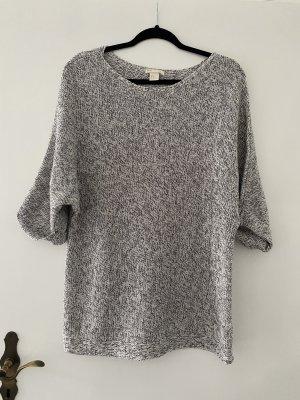 Pullover grau-meliert 3/4 Ärmel