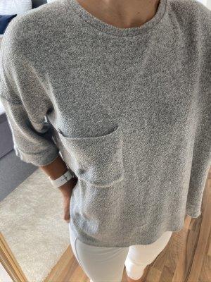 Pullover - grau - meliert - 3/4 - Oversize - Zara