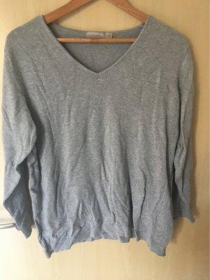 Blue Motion Sweter z dekoltem w kształcie litery V jasnoszary-szary