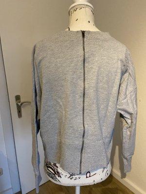 Pullover grau mit Reißverschluss