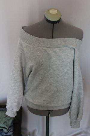 Pullover grau schulterfrei