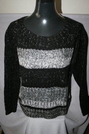 Pullover grau/schwarz Gr. 38 von GiNA - wie neu