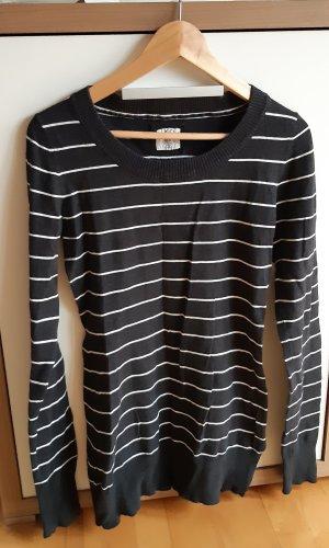 Pullover grau weiß gestreift von H&M Gr.M