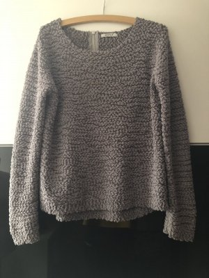 Yessica Pull à gosses mailles gris clair-gris