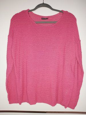 Laura Torelli Coarse Knitted Sweater pink-neon pink