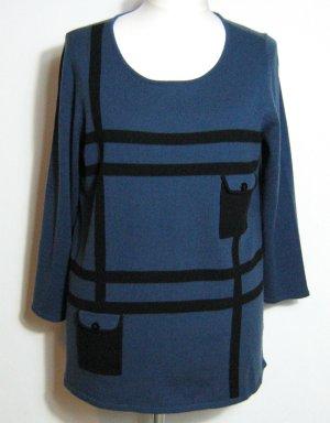 Pull long bleu