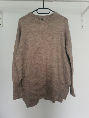 H&M Jersey de cuello redondo marrón claro